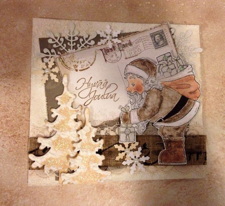 My handmade magnolia santa christmas cards