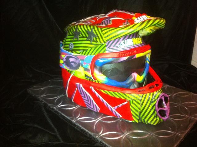 motorcross helmet by Tammie Coe Cakes, via Flickr