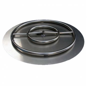 """30"""" Stainless Steel Round Fire Pit Burner Kit"""