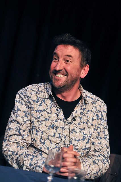 Funny man in a flowery shirt!