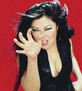Margaret Cho - her impression of her mom is what gets me. Reminds me of my mom totally!