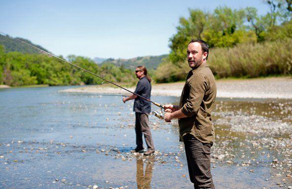 Dave Matthews goes fishing.
