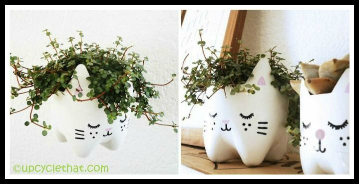 Cat Planter Bowl