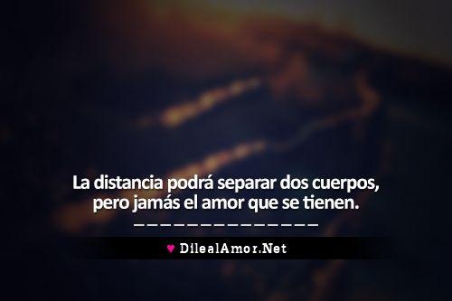 La distancia y el amor