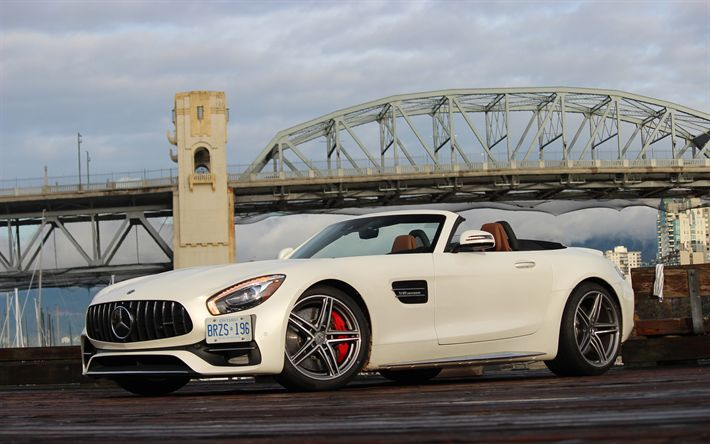 Download wallpapers Mercedes-AMG GT C, 4k, 2018 cars, cabriolets, supercars, Mercedes