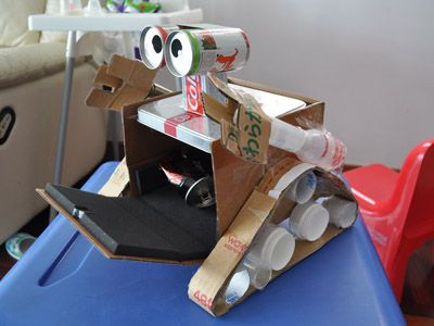 Nicholas Blog » Blog Archive » My homework – WALL.E robot made from recycled materials