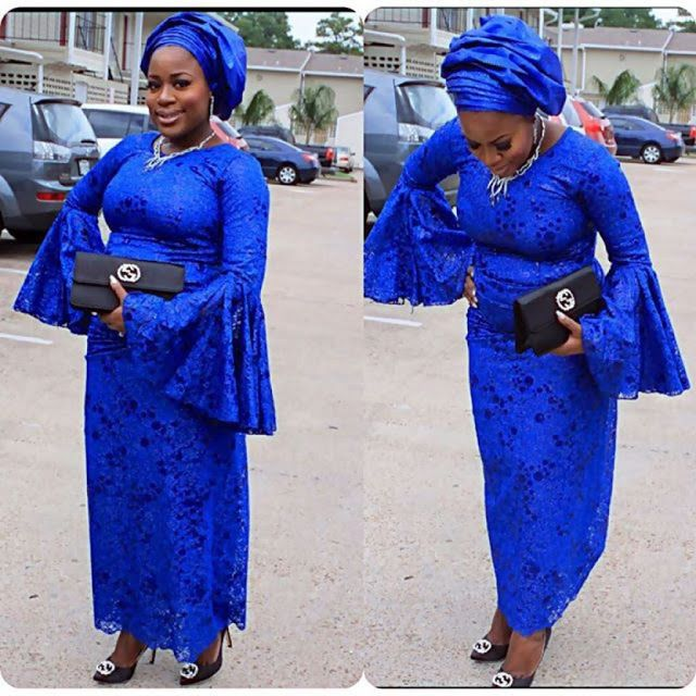 Deep Blue Lace Styles For Nigeria Ladies http://www.dezangozone.com/2016/05/deep-blue-lace-styles-for-nigeria-ladies.html