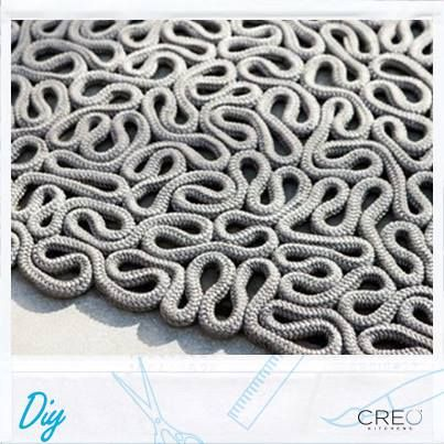 #Creo #Diy #canvas #carpet #rope #decor #home