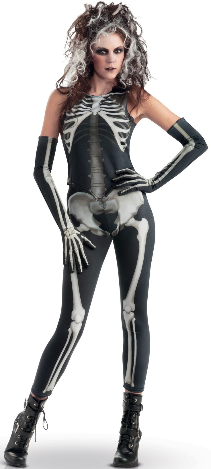 Gruseliges Skelett-Kostüm für Damen : Vegaoo Kostüme für Erwachsene