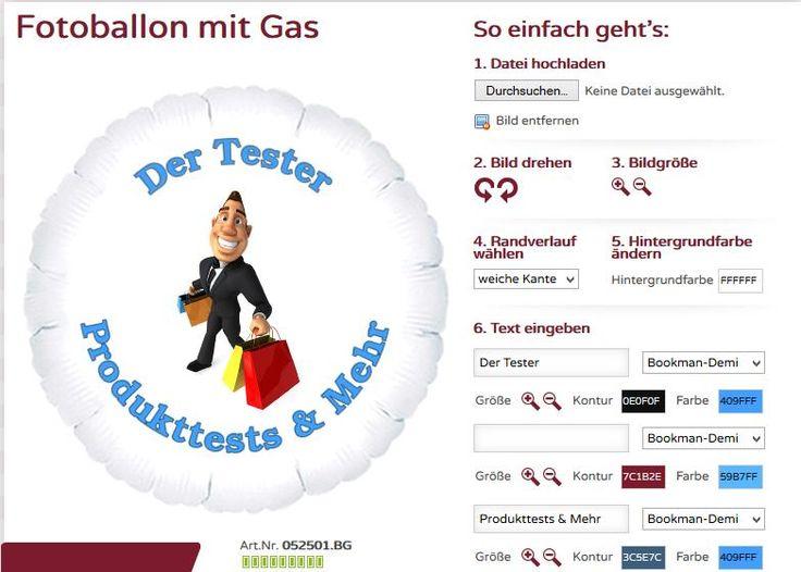 Geschenkidee - singender Ballon & Fotoballon selbst gestalten