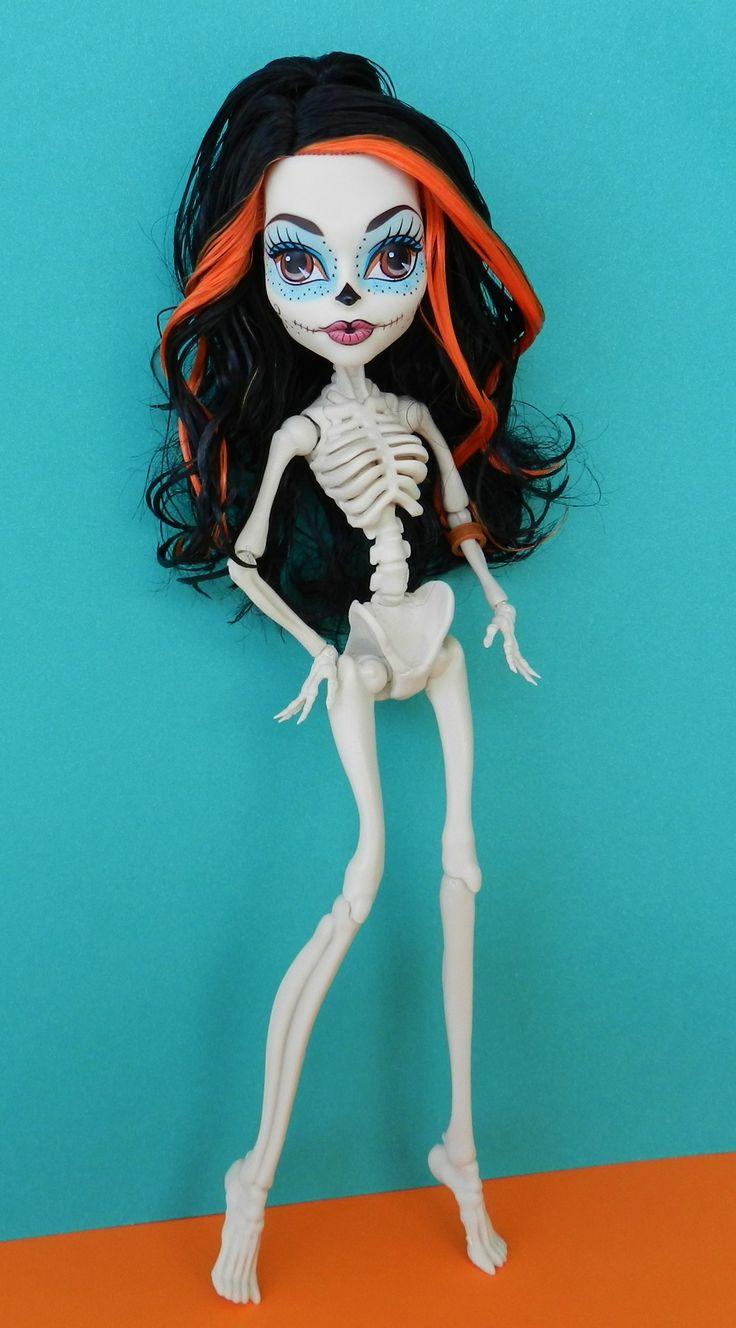Monster High Custom Skelita OOAK Day of the Dead Doll