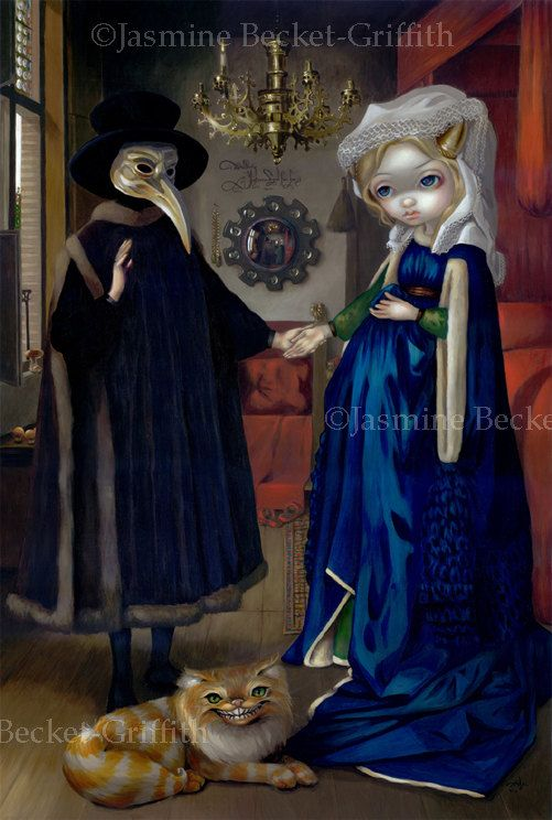 Alice in a Van Eyck Portrait wonderland renaissance fairy art print by Jasmine Becket-Griffith BIG 12x18