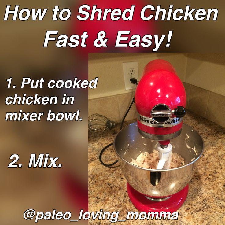Shredded chicken trick