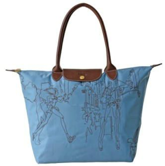 Longchamp Embroidered Bags Blue