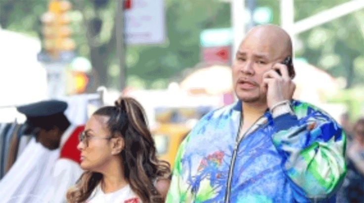 June 10 2017: Fat Joe and his wife Lorena Cartagena are spotted hand-in-hand while they were out and about in NYC. Joey got a WINNER!!