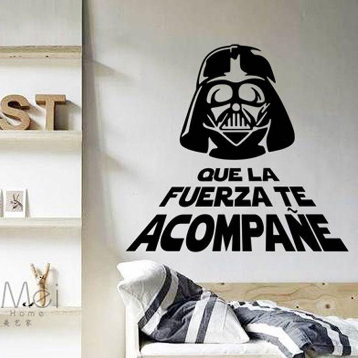 Decora la pared con vinilos Star Wars http://www.icono-interiorismo.blogspot.com.es/2015/12/decora-la-pared-con-vinilos-star-wars.html
