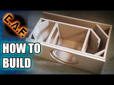 How to Build a Subwoofer Box - YouTube