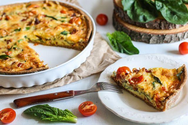 food geek: Киш с беконом, шпинатом и помидорами черри