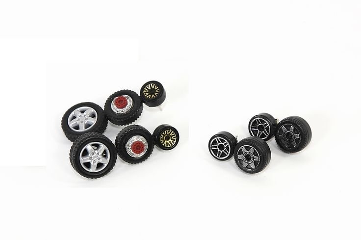 Toy tires earrings by Carmina Campus, FW2014
