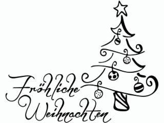 cart-us Stempel Fröhliche Weihnachten