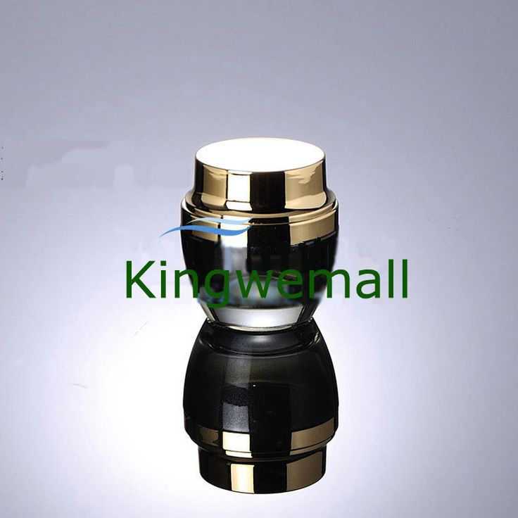 200pcs/lot Newest 50g 50ml High Grade Glass Cream Jar Black with Gold Color  For Cosmetic Packaging EWH03