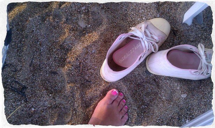 #greece #summer #sand #nails #pink