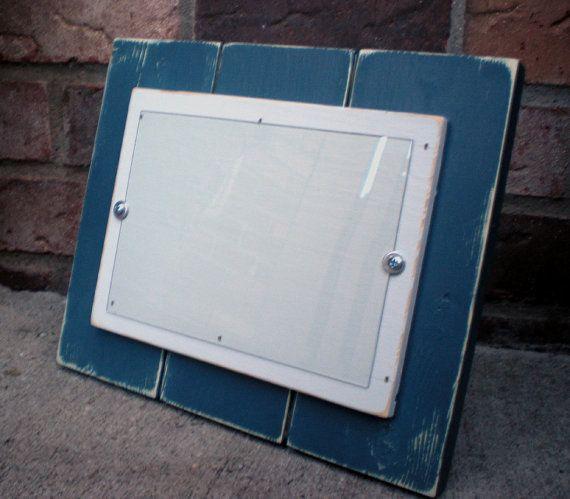 5 x 7 Wood Picture frame shabby chippy nautical by bigredbarnbam