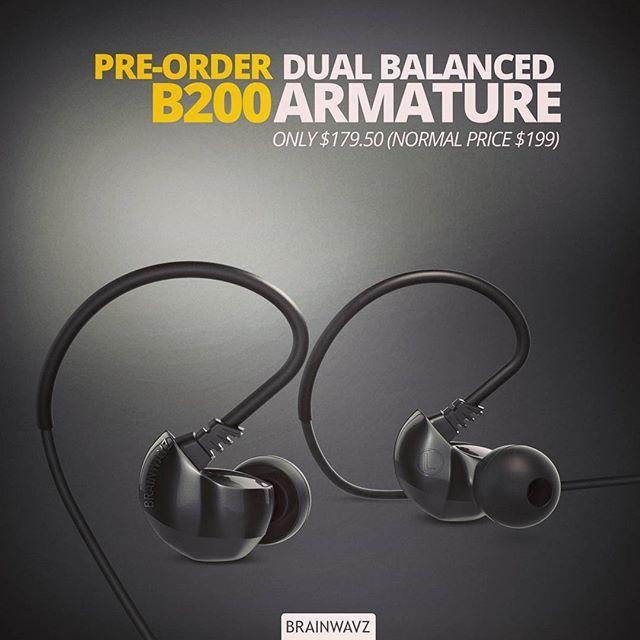 Brainwavz B200 dual balanced armature - on pre-order now check the link in bio. #brainwavz #BrainwavzAudio #armature #dual #balancedarmature #hifi #sale #preorder #audio #earphones #earbuds #hifidelity #b200 #b150 #audiophile via Earphones on Instagram - Best Sound Quality Audiophile Headphones and High-Fidelity Premium Earbuds for Hi-Fi Music Lovers by AudiophileCans