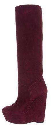 Stuart Weitzman Knee-High Wedge Boots