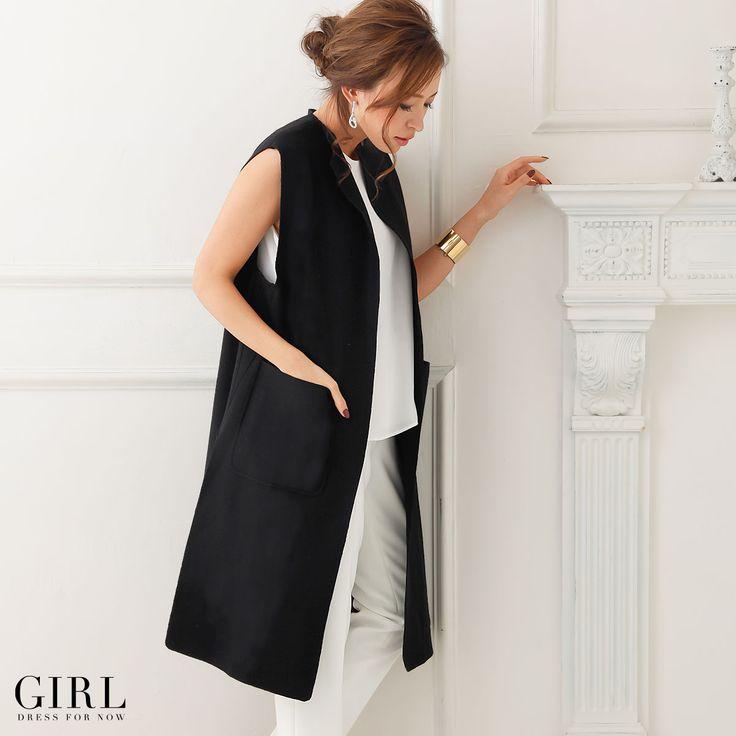 GIRL シンプルジレ ●価格 9,709円(税込)●サイズ:S/M/L/2L ●カラー:ブラック/ダークグレー/キャメル