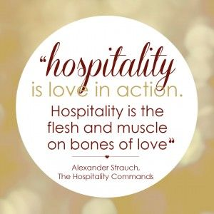 a hospitable heart - quote by Alexander Strauch {Hive Resources)