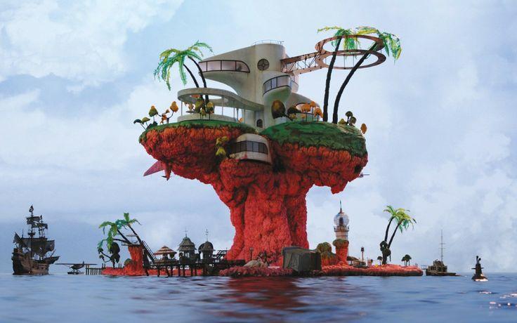 Plastic Beach - Gorillaz wallpaper