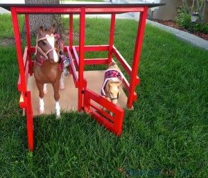 How to Build an American Girl Doll Horse Stable - American Girl Ideas