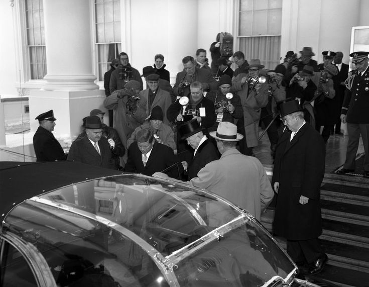 President elect John F  Kennedy and President Dwight D  Eisenhower in  Pre inaugural Ceremonies at the White House   John F  Kennedy Presidential  Library. 17 Best images about Kennedys  1960 Election on Pinterest   Jfk