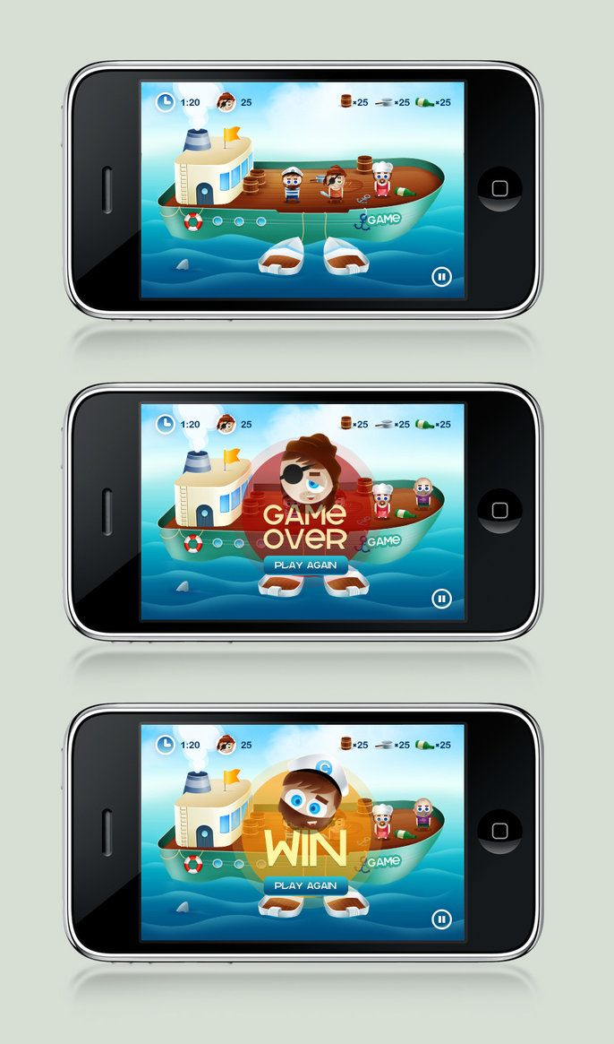 iPhone game design by ~gatisatmixlv on deviantART
