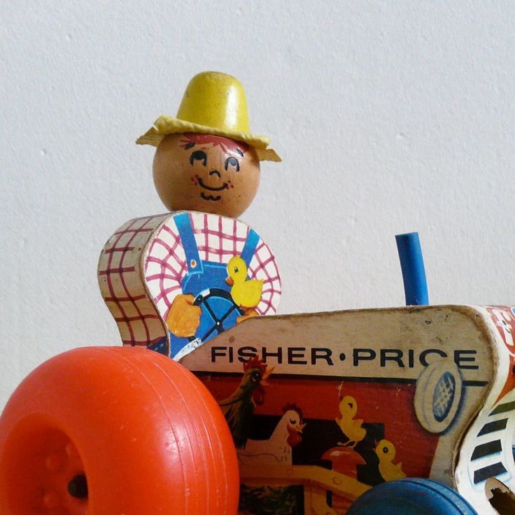 Fisher Price | vintage 60s tractor pull toy // jouet à tirer tracteur années 60
