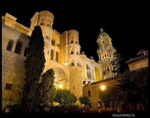 "Malaga´s Cathedral (""La Manquita""). Cister, Street."