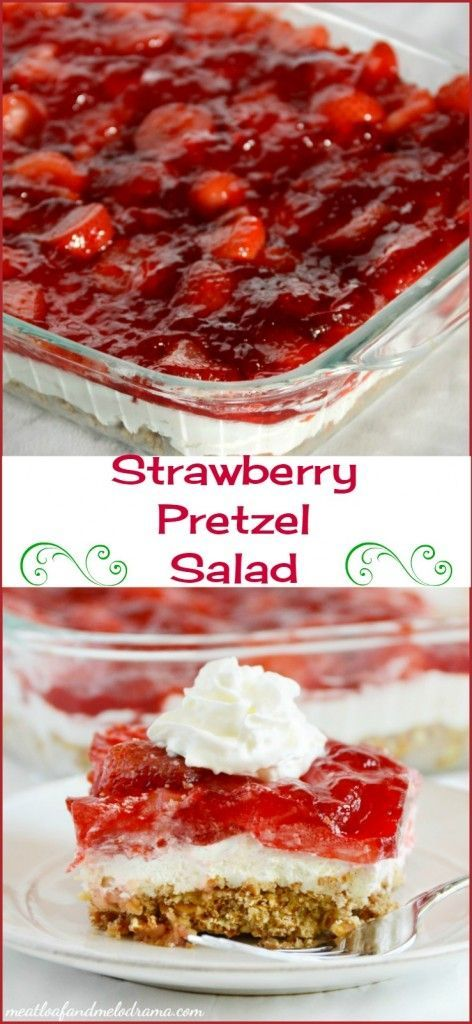 Strawberry pretzel salad is a classic retro dish that is perfect for potlucks, showers or any springtime celebration!