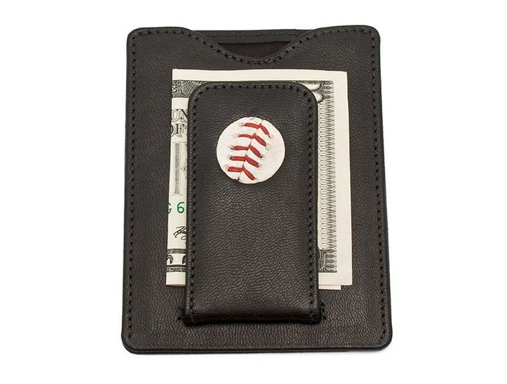 Tokens & Icons Atlanta Braves Game Used Baseball Money Clip Wallet