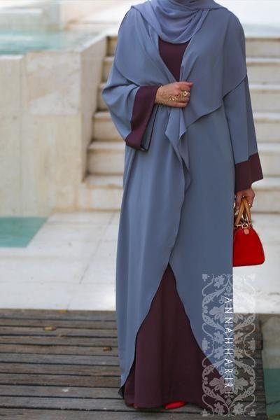modern islamic dresses jilbabs online uk designer fashion online discount clothing stores woman in islam arabian abayas islamic Abaya Dress Grey&Maroon