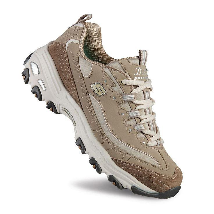 Skechers D'Lites Me Time Women's Sneakers, Size: 9.5 Wide, Dark Beige