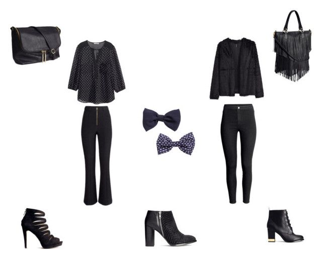 basic in black by girlie-contrast on Polyvore featuring H&M
