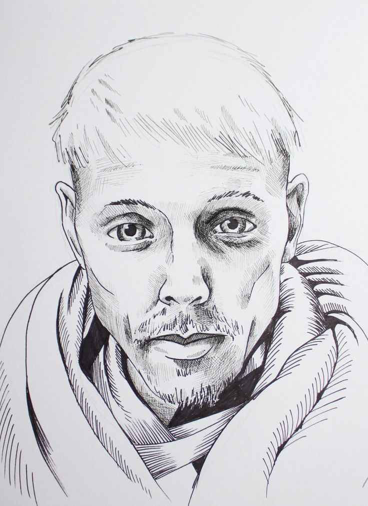 Self-portrait in ink. 2015