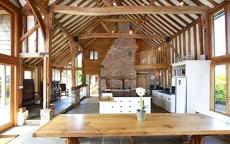 a barn conversion home with room to roam open plan living open spaces and 18th century. Black Bedroom Furniture Sets. Home Design Ideas