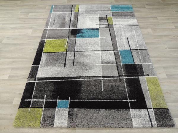 Colourful Geometric Modern Turkish Rug Size: 120 x 170cm