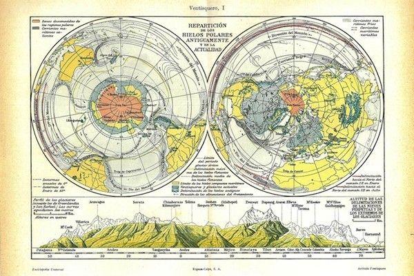 Vintage maps via Carambas on Etsy