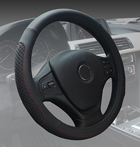 Black Steering Wheel Cover Universal Microfiber Leather Fashion Soft Breathable Car Steering Wheel Cover for Women. For product info go to:  https://www.caraccessoriesonlinemarket.com/black-steering-wheel-cover-universal-microfiber-leather-fashion-soft-breathable-car-steering-wheel-cover-for-women/