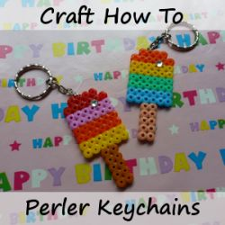How to make keychain keyring items from completed Hama, Perler, Fused bead projects