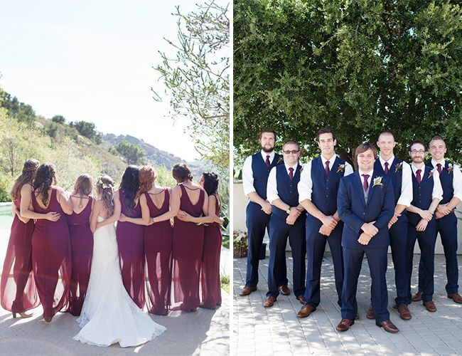 Wedding Party Navy Burgundy Gray Yahoo Image Search