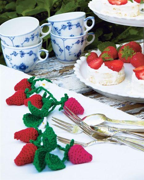 Lav en hæklet jordbærranke - Hendes Verden
